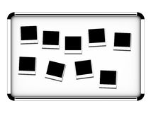 Board 1. Chrome board on white background - front view Royalty Free Stock Photo