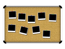 Board 1. Chrome board on white background - front view Stock Photo