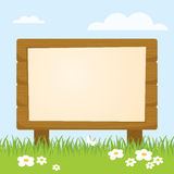 Board. Vector Blank Wood board background Royalty Free Stock Photos