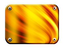 Board. Yellow and gold fire conceptual board. Isolated illustration Royalty Free Stock Image