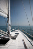 On board. Yacht on the Michigan Lake Stock Photography