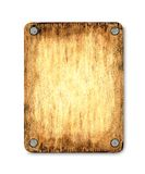 Board. The wooden tablet which was nailed  up. The light area in the middle allows to add the text or the image on a board Royalty Free Stock Image