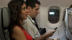 Board Airline Passengers On Airplane stock video footage