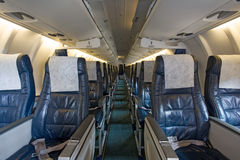 Board of the airplane. Leather board of the airplane Royalty Free Stock Images