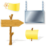 Board arrow indicator message Royalty Free Stock Images