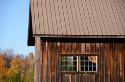 Board and batten vintage antique cedar barn Stock Images