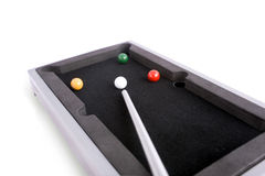 Board billiards. On white background Royalty Free Stock Image