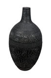 Board black vase Royalty Free Stock Photography