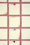 Board with blank post-it. Royalty Free Stock Images