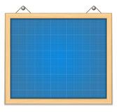 Board with blueprint Royalty Free Stock Photos