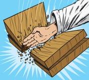 Board break Karate style Royalty Free Stock Images