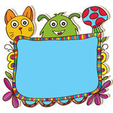 Board cartoon colorful Stock Images