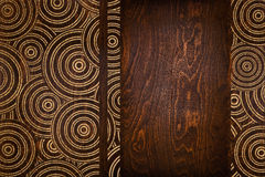 board with a carved pattern Stock Photography