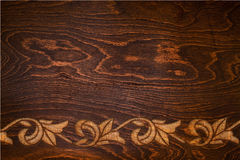 board with a carved pattern Stock Images