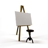 Board with chair Royalty Free Stock Photo