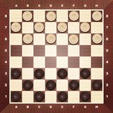 Board with checkers vector Royalty Free Stock Photo