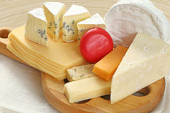 Board of cheese Royalty Free Stock Photography