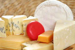 Board of cheese royalty free stock photos