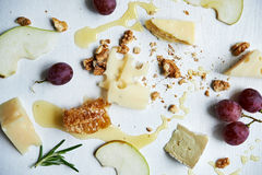 Board with cheese Stock Photos