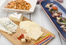Board of cheese Stock Image
