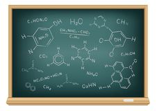 Board chemical formula. The school blackboard and chalk drawn chemical formula Stock Illustration