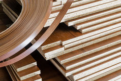 Board chipboard cut parts Stock Images