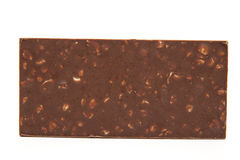 Board chocolate with nut Stock Images