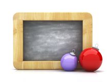 Board and christmass toy. Blank blackboard and christmass toy Stock Image