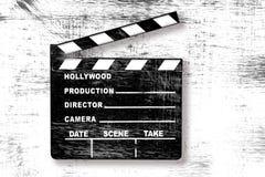 board clapper grunge movie Στοκ Φωτογραφίες