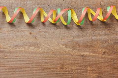 Board with colorful streamers Royalty Free Stock Photo