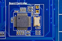 Board Controller. Computer electronic circuit. Background royalty free stock photography