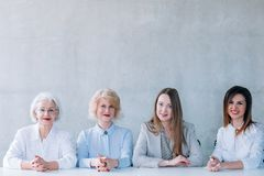 Board corporate hr managers business briefing job stock photos