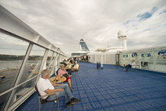 On board the cruise ship Royalty Free Stock Photography