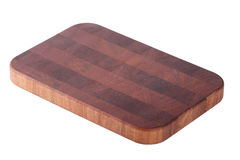 Board for cutting food, isolated. Board for cutting food, kitchenware from red wood, isolated on the white Stock Photos