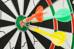 Board for darts. Royalty Free Stock Photo