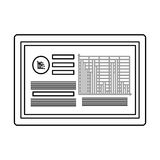 Board with data and bar graph , Vector illustration. Board showing data and bar graph  illustration isolated over white Royalty Free Stock Image