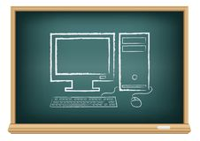 Board desktop computer Royalty Free Stock Photos