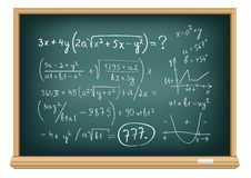 Board difficult equations Stock Photos