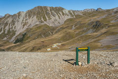 Board with directions in Nelson Lakes National Park Royalty Free Stock Photography