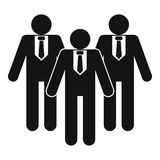 Board directors icon, simple style. Board directors icon. Simple illustration of board directors vector icon for web Royalty Free Stock Image
