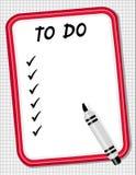 board do list marker to white Стоковые Изображения RF
