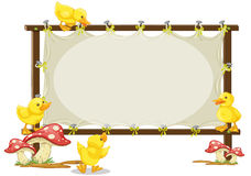 Board and duck. Illustration of a board and duck on a white background Stock Images