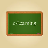 Board With E-learning Word On It Royalty Free Stock Images