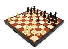 Board with figures. Chess figures on a board for illustrations Stock Photos