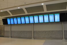 Board with flights,cancelled,delayed and on time,Jacksonville,Florida,2015 Stock Photo