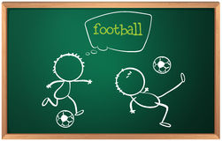 A board with football players. Illustration of a board with football players on a white background Royalty Free Stock Images