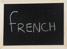 Board with FRENCH Royalty Free Stock Photography