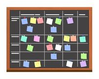 Free Board Full Of Tasks On Sticky Note Cards. Stock Photos - 108025643