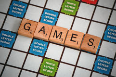 Board Game. A game of scrabble with word games Royalty Free Stock Photo