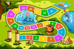 Board Game in Animal Theme Stock Images